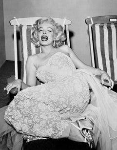 Marilyn Monroe in Deckchair, Los Angeles Fine Art Print