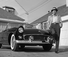 Frank Sinatra Standing Next To T-Bird Fine Art Print