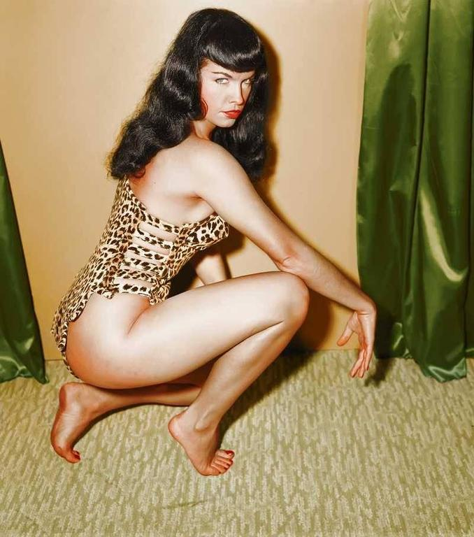 Betty Page Photos: Bettie Page Colorized Master Print