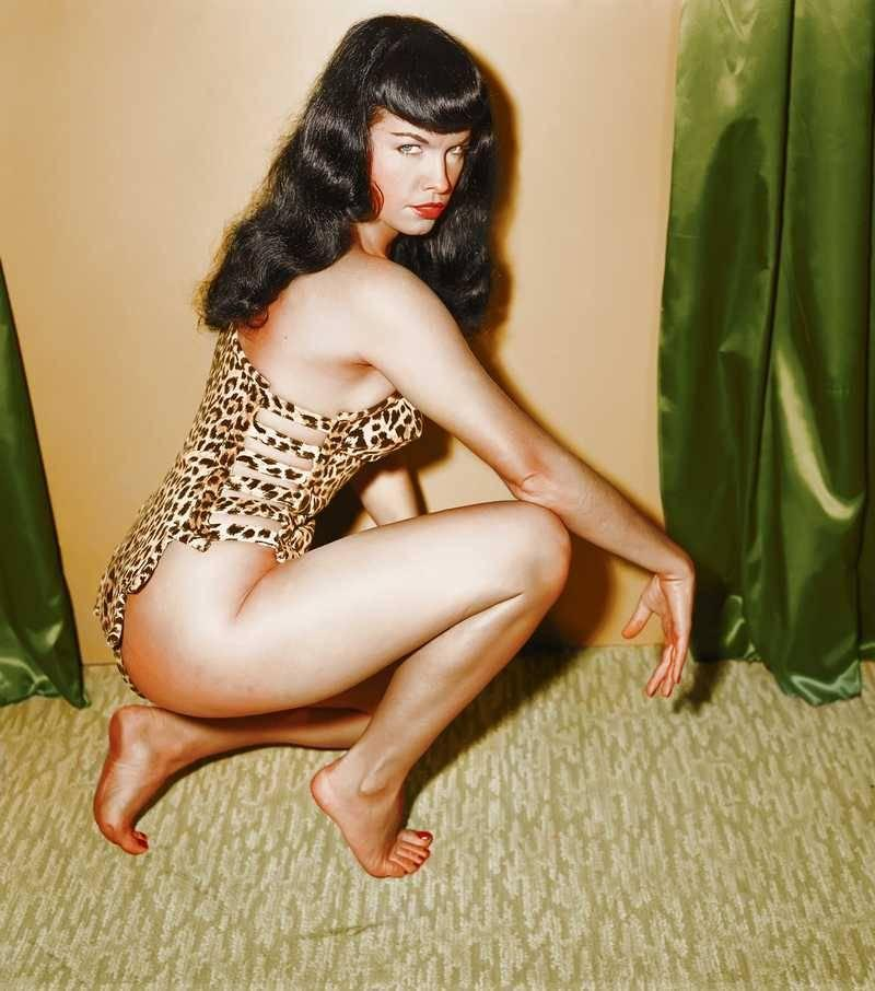 Irving Klaw Bettie Page Colorized Master Print For Sale