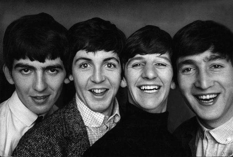 Norman parkinson black and white photograph meet the beatles