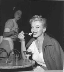 Marilyn Monroe Enjoying Ice Cream 1953 Vintage Oversized Print