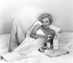 Marilyn Monroe Breakfast In Bed Oversized Vintage Print