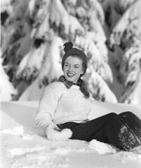 Norma Jeanne In The Snow 1945 Oversized Vintage Print