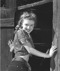 Norma Jeane On The Ranch Oversized Vintage Print