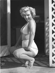 Marilyn Squatting 1953 Oversized Vintage Print