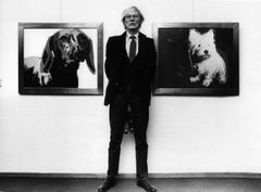 Andy Warhol at Exhibition in Sweden Fine Art Print