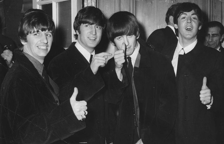 The Beatles Thumbs Up Fine Art Print