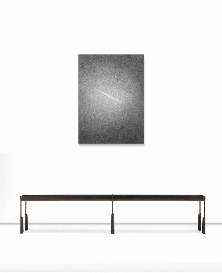 Untitled #23 - Gray Abstract Drawing by Matilde Alessandra