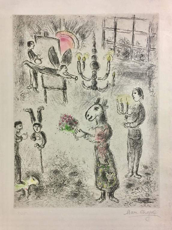 Marc Chagall - Plate 7 from Celui Qui Dit les Choses sans Rien Dire 1