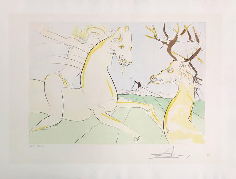 c5a9af6e305 Salvador Dalí - Le Cavalier et le Cerf from Le Bestiaire de la ...