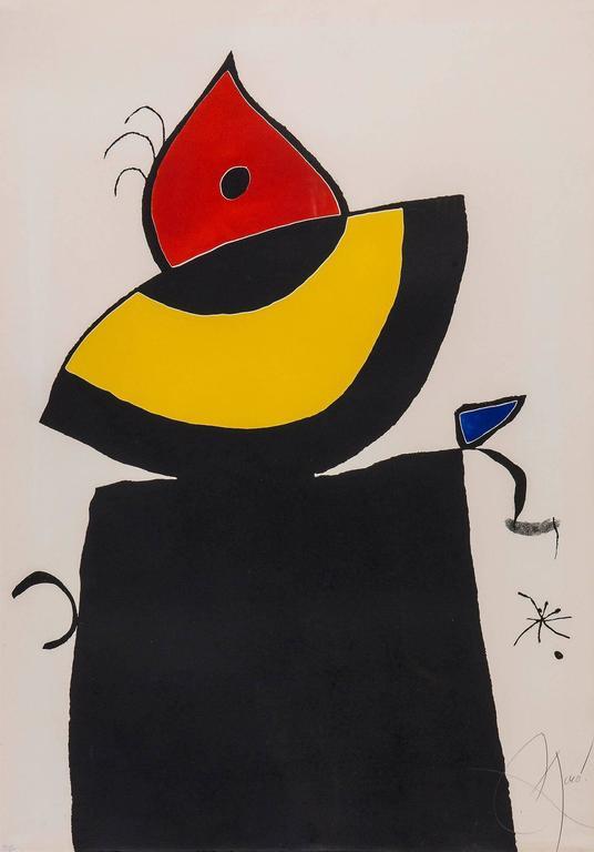 Joan Miró - Plate 5 from Quatre Colors Aparien el Món 1