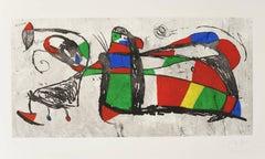 Joan Miro, Tres Joans, etching and aquatint