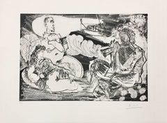 Pablo Picasso, Le Joueur de Diaule, etching and aquatint