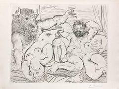 Pablo Picasso, Scène bacchique au Minotaure from La Suite Vollard, etching