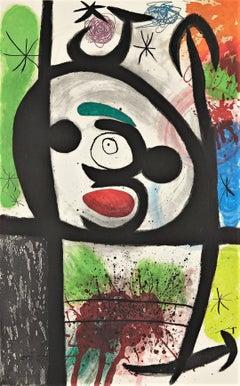 Joan Miro, La Femme Toupie, etching