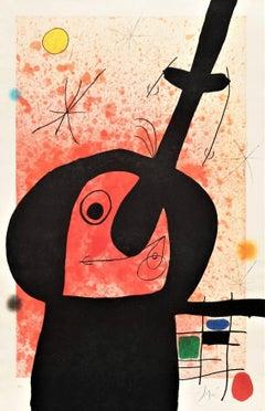 Joan Miro, Le Penseur Puissant, etching