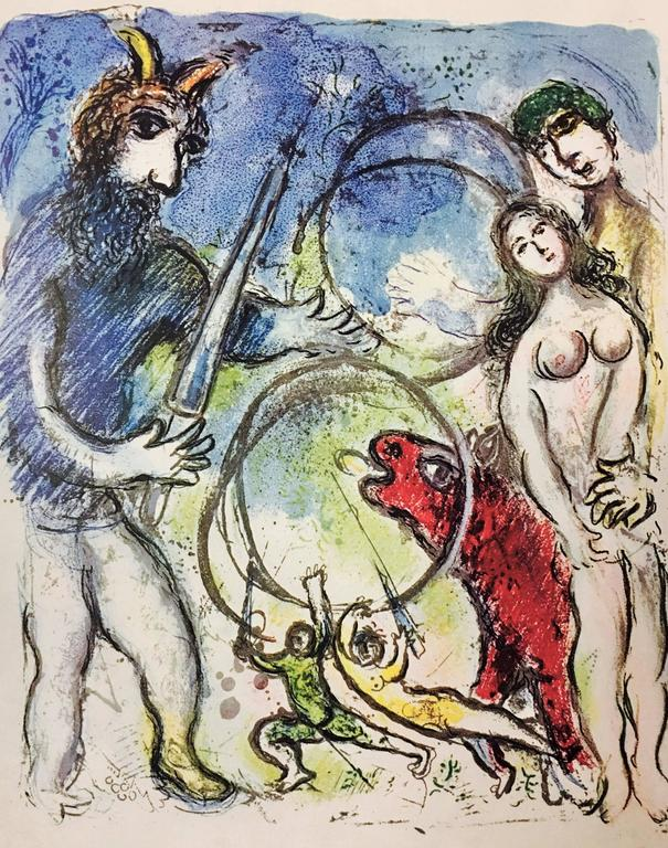 Marc Chagall Figurative Print - Plate 8 from In the Land of the Gods