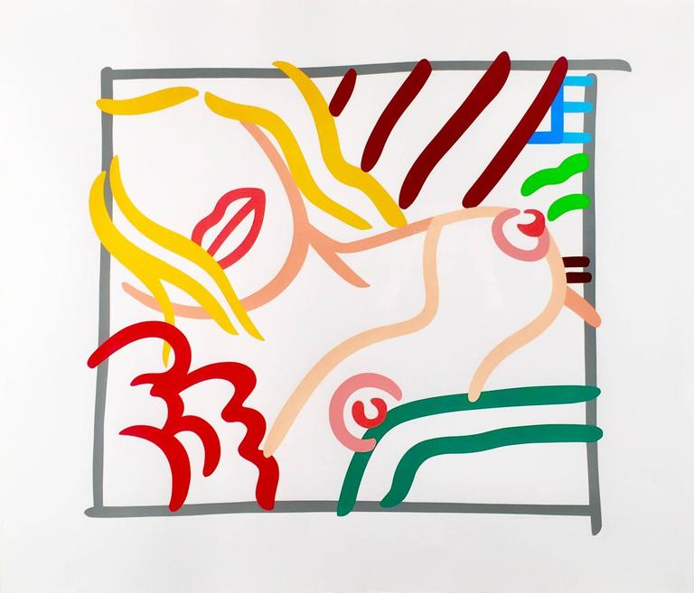 Tom Wesselmann Figurative Print - New Bedroom Blonde Doodle