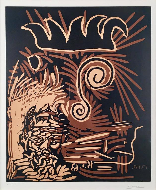 Pablo Picasso Abstract Print - Têtes (Le Vieux Bouffon)