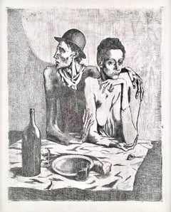 Pablo Picasso,Le Repas Frugal from Suite des Saltimbanque, etching