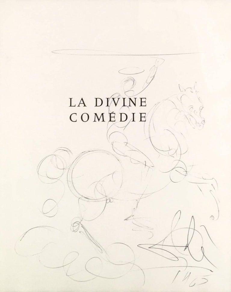 Salvador Dali La Divine Comedie Title Page Drawing For
