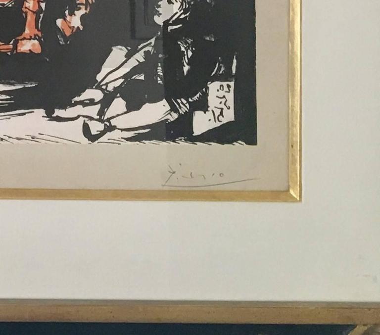 Pablo Picasso, The Departure - Beige Figurative Print by Pablo Picasso