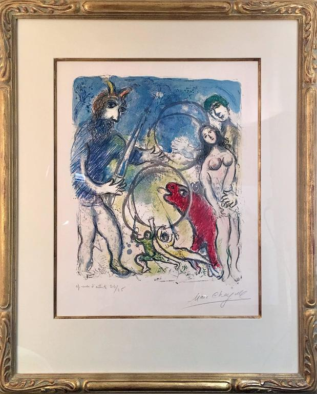 Plate 8 from In the Land of the Gods - Print by Marc Chagall