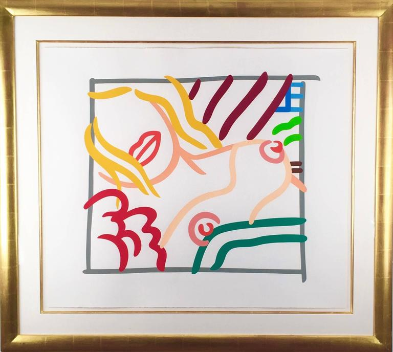 New Bedroom Blonde Doodle  - Print by Tom Wesselmann