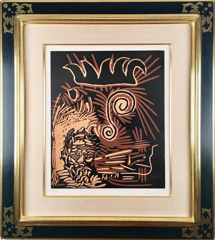 Têtes (Le Vieux Bouffon) - Print by Pablo Picasso
