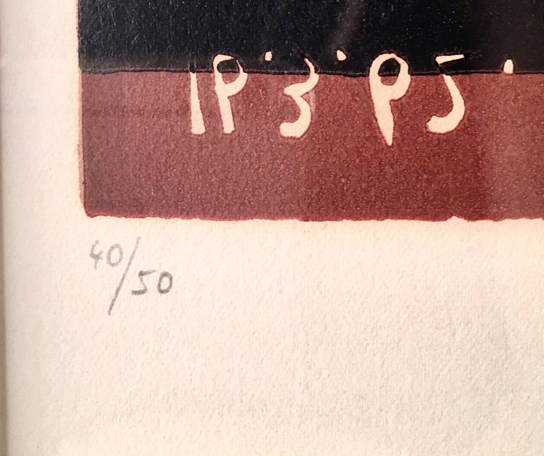Pablo Picasso, Tête de Femme, original linoleum cut  - Black Portrait Print by Pablo Picasso