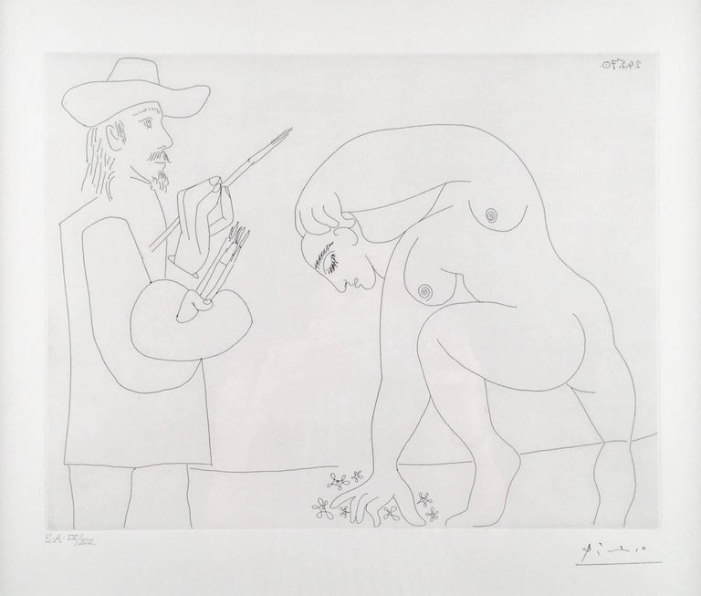 Pablo Picasso, Untitled from 156 Series, etching - Print by Pablo Picasso