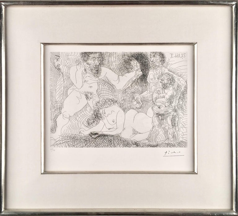 Pablo Picasso, Untitled from 23 novembre 1966 II, etching - Modern Print by Pablo Picasso