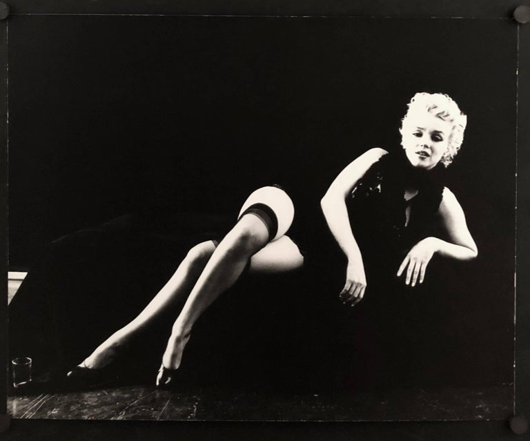Reclining Leg Crossed from The Black Sitting - Photograph by Milton Greene