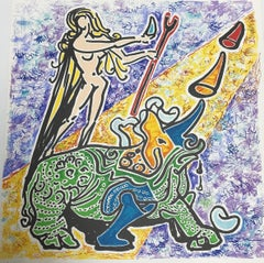Le Vierge et Le Rhinoceros (The Virgin and the Rhinoceros) from Le Jungle Humain