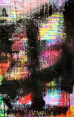 """Oil on Canvas Titled: """"Black Rake II"""""""
