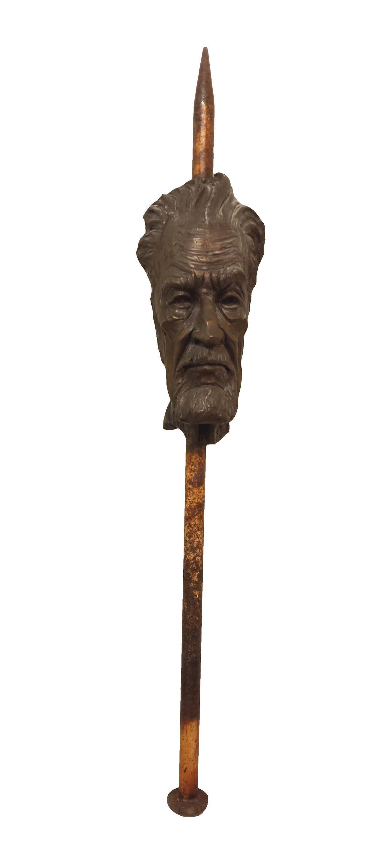 Steel & Iron Sculpture Titled: Nail Head