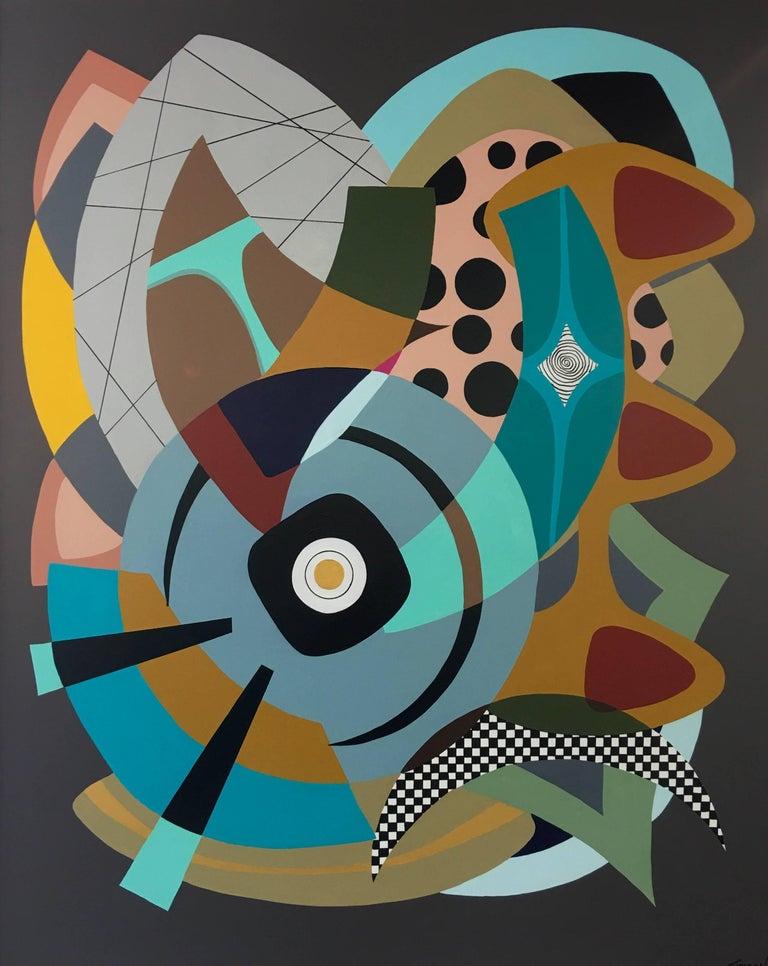 Amauri Torezan Abstract Painting - Painting on Canvas Titled: Wonderland