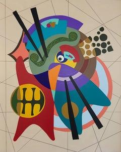 Acrylic Painting Titled: Orbital
