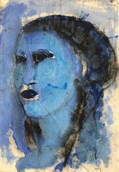 Oil on Canvas Titled: Estudios Azul