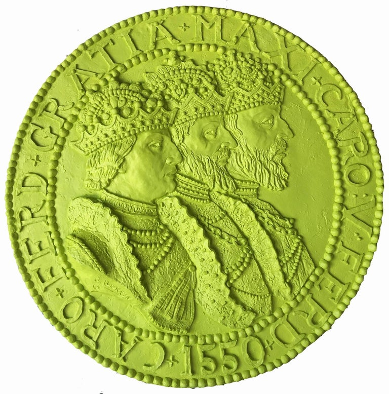 J. Bortin Figurative Sculpture - Three Kings Wall Coin