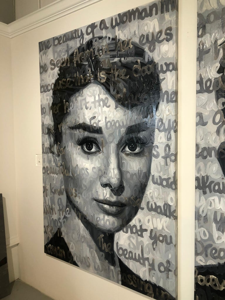Original Oil On Canvas Painting Titled: Audrey For Sale 11
