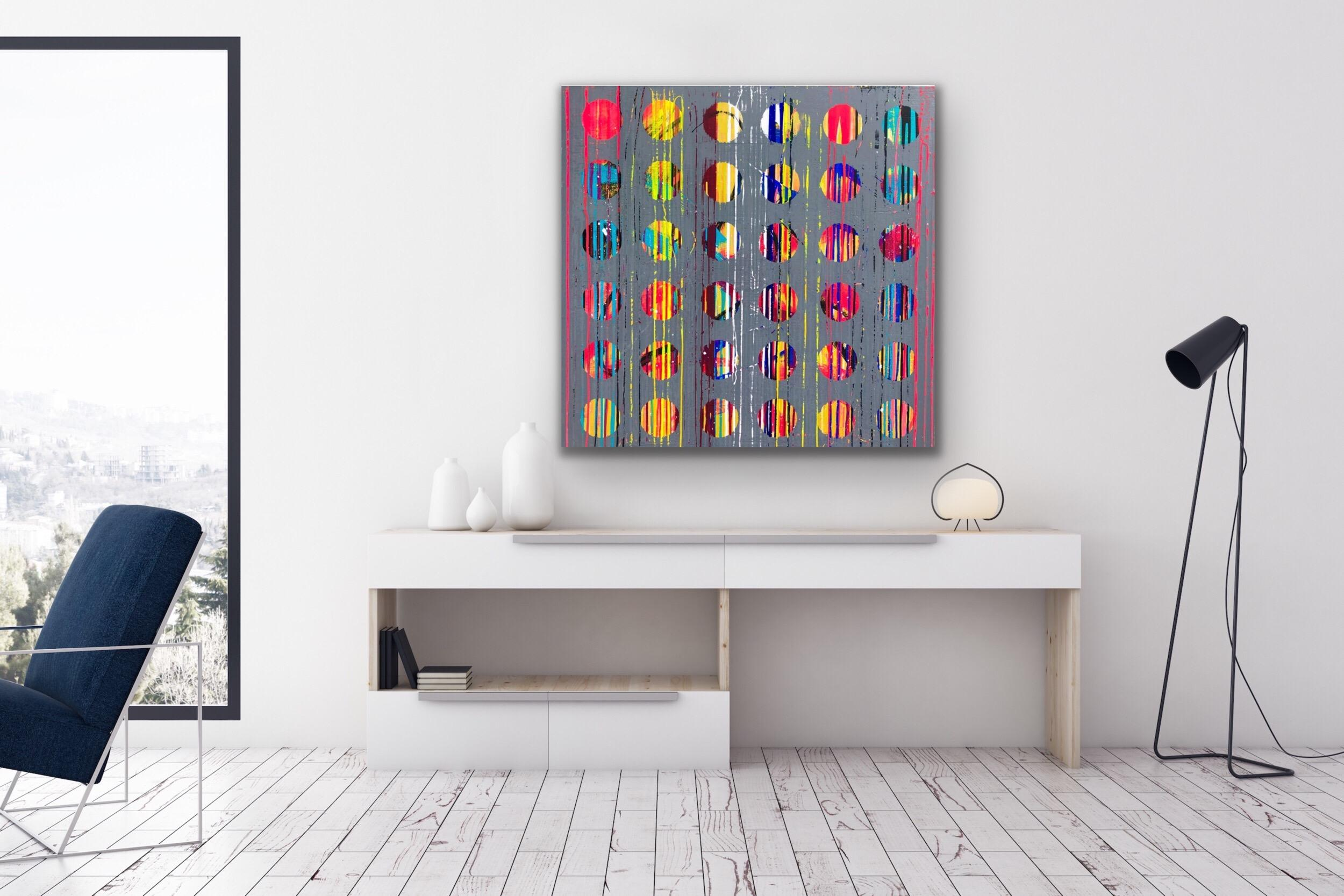 Abstract Acrylic Painting on Panel