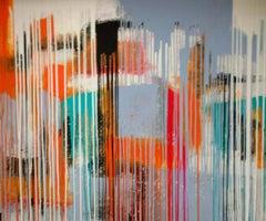 Large Acrylic & Oil on Wood Panel Titled: Kalopsia VIII (Framed)