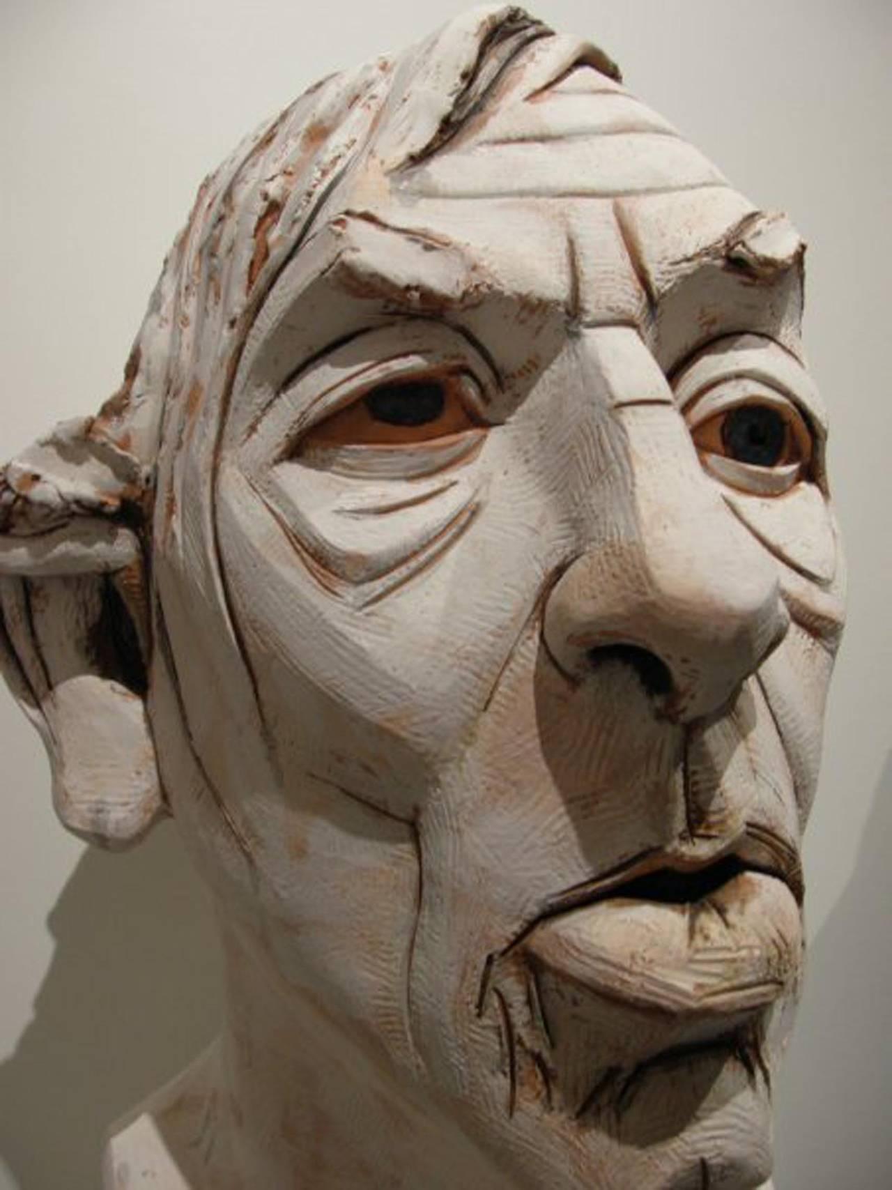 Large Terracotta Sculpture Titled: Albert For Sale 2