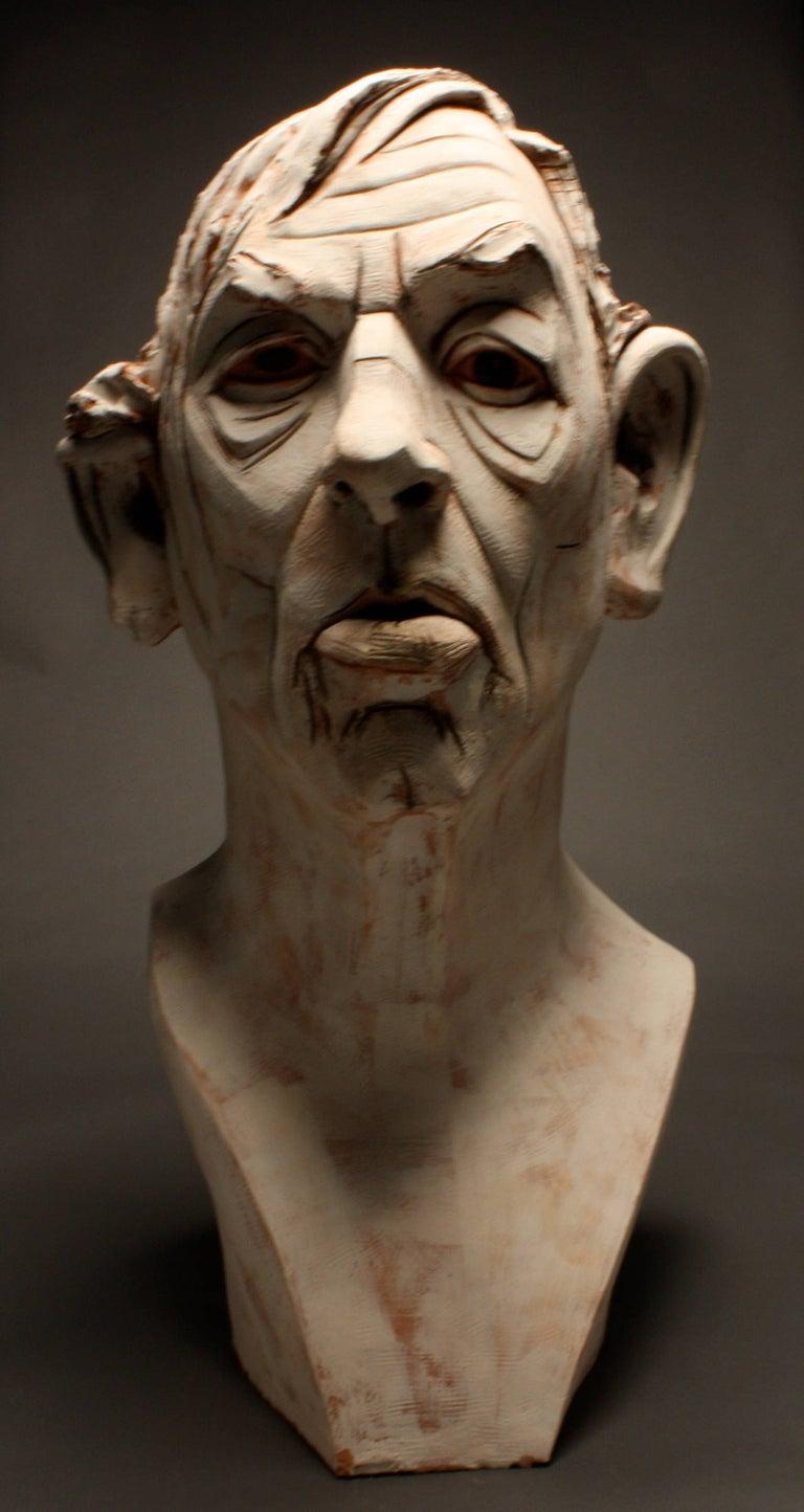 Chris Riccardo Figurative Sculpture - Large Terracotta Sculpture Titled: Albert