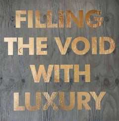 Acrylic on Reclaimed Wood Titled: Filling the Void -Blue
