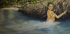 Oil Painting Titled: Girl in Water