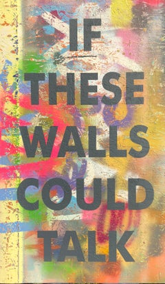 Acrylic Painting Titled: If These Walls..