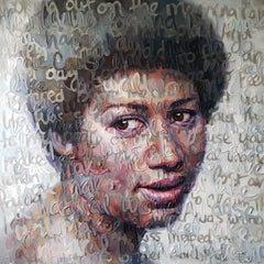 Large Oil Painting of Aretha Franklin